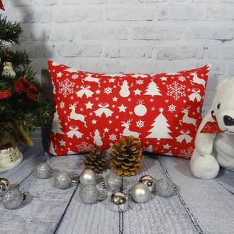 Декоративная новогодняя подушка, новогодний подарок, подарок на новый год