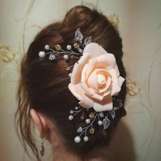 Гребень с розой