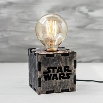 Лампа Настольная Светильник с обьемной гравировкой