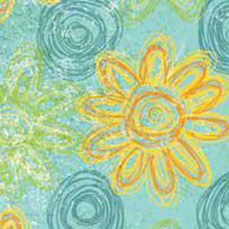 Калька URSUS А4 Парадис 115г Крупные цветочки Голубой UR-7725 46 04R