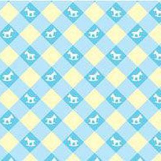 Калька URSUS А4 115г/м Baby Голубая мотив Игрушки Клетка мелкая UR-53394605