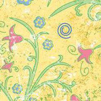 Калька URSUS А4 Парадис 115г Желтый мотив Маленькие цветы UR-77194602R