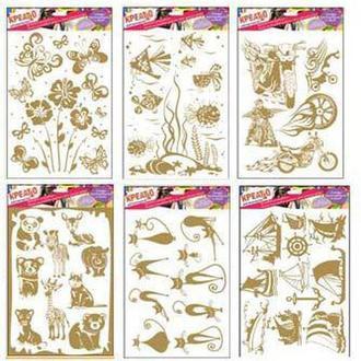 Термонаклейка для ткани КРЕАТТО Золотые узоры 14622