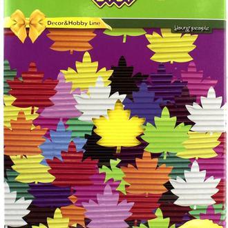 Картон кольоровий дитячий для виробів А4 ZiBi Гофра 8л, 8цв ZB1971