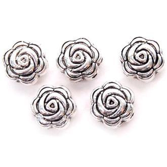 Бусины металлические Margo Виола 8*4мм, 10шт, Античное серебро