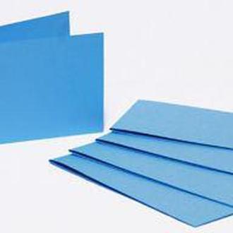 Набор заготовок для открыток 5шт 15,5*15,5см №5 Голубой 220г/м Margo 94099015