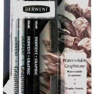 Набор для графики Derwent Watersoluble Graphitone 8 шт 700662