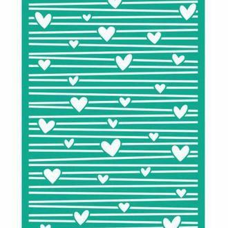 Трафарет самоклейка многоразовый 13*20см Rosa Talent Фоновый №1406 серия Love GPТ50046009