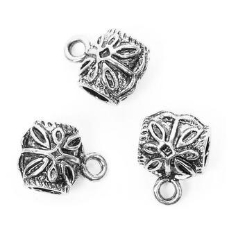 Основа для бижутерии Margo, держатель для кулона Цветок, 5шт 11*14*11мм, Серебро 9856914