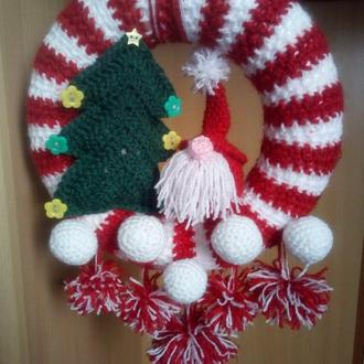 Рождественский новогодний венок