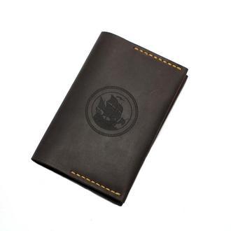 Обкладинка на паспорт і документи (докхолдер) — коричнева