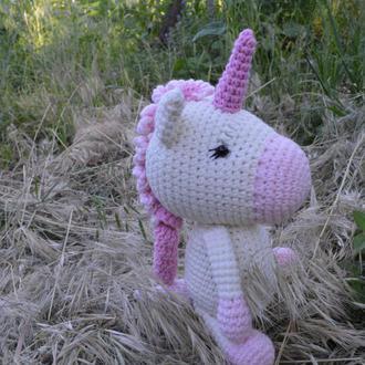 Единорог вязаный. Амигуруми. Единорожка пони.