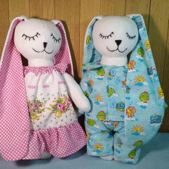Текстильная игрушка Зайка-сплюшка