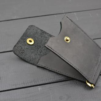 """Кожаный кошелёк""""Зажим"""""""