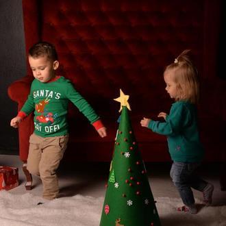 Детская ёлка из фетра. Новогодняя ёлка.Искусственная ёлка. Детская елка