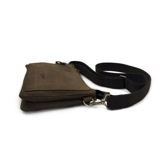 1c3f301af202 Мужская сумка-барсетка из коричневого канваса и натуральной кожи ...