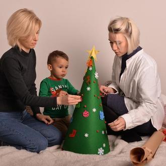 Искусственная ёлка из фетра. Новогодняя ёлка. Детский подарок. Елка детская