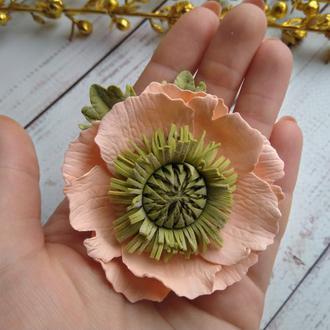 Анемон из фоамирана на резинке,  Цветы на резинке, цветы для волос
