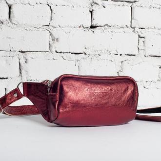 Женская поясная сумка Pocket bag с натуральной кожи