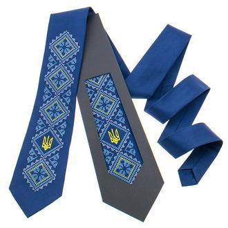 ВЫШИТЫЙ ГАЛСТУК С ТРЕЗУБОМ №820, Сувенир из Украины, Подарок директору