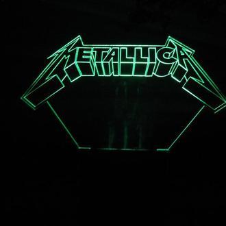 Ночник светильник Metallica, подарок, рок, сувенир, для мужчины, для парня, для музыканта, декор