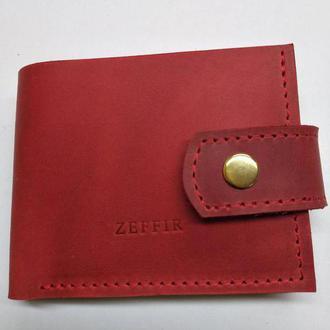 Удобный кошелёк для купюр и карточек из натуральной кожи!