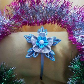Ободок новогодний для волос СНЕЖИНКА