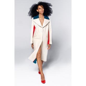 Пальто молочного цвета by GRINKO coat