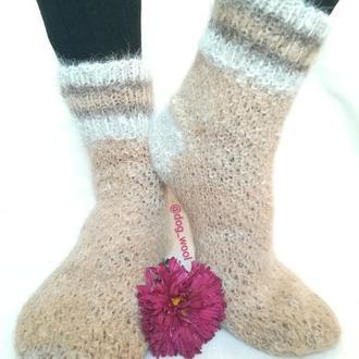 Носки из собачьей шерсти  45-46 натуральная шерсть шерстяные шкарпетки