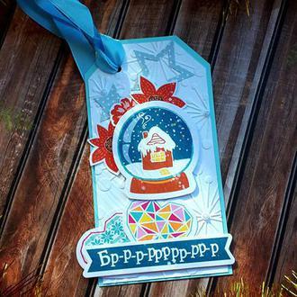 Новогодний  тэг - открытка