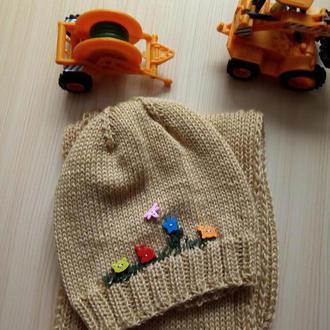 Комплет для девочки: шарф и шапка