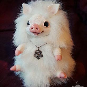 Новогодняя свинка Зефирка