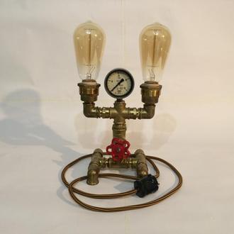Светильник из водопроводных деталей с регулировкой яркости G64