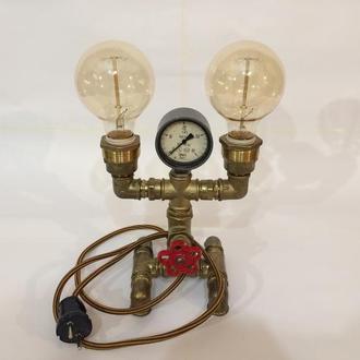 Светильник из водопроводных деталей с регулировкой яркости G80