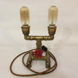 Светильник из водопроводных деталей с регулировкой яркости T45