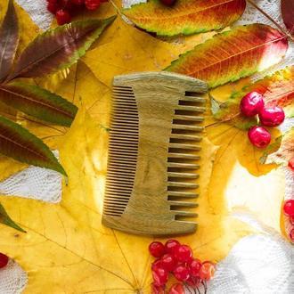 Деревянный гребень для бороды из сандала ( железное дерево, бакаут)
