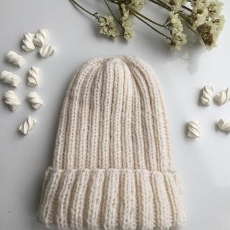 Вязаная зимняя шапка