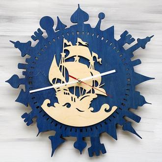 """Часы из дерева """"Корабль"""""""