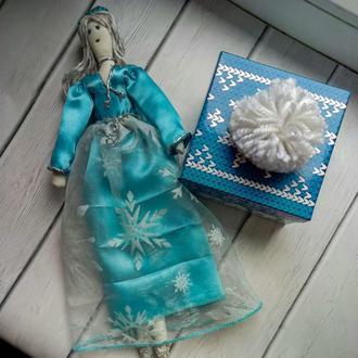 """Кукла """"Снегурка"""" в стиле тильда, текстильная, интерьерная"""