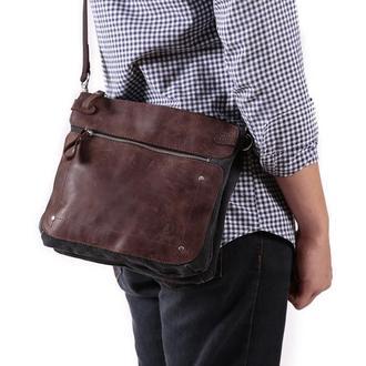Небольшая мужская сумка на три отделения