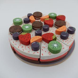 Игрушечный тортик деревянный 49 элементов