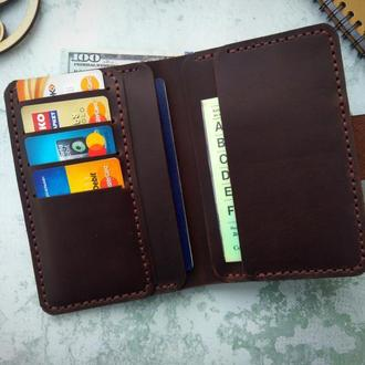 Мужской кошелек для денег,паспорта, автодокументов из натуральной кожи