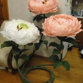 Ростовые гигантские, большие цветы для интерьера, декора свадьбы, Дня рождения, витрины, фотосессии