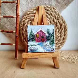 Дом в снегу (миниатюра)
