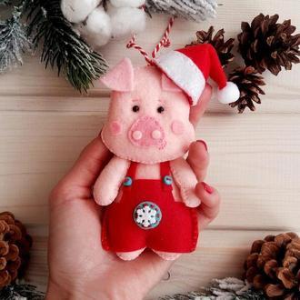 Новогодняя игрушка,символ 2019 года - свинка!