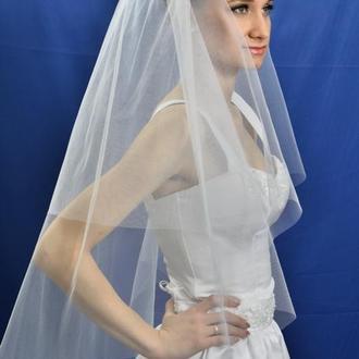 """Свадебная фата """"Чистая прозрачность"""""""