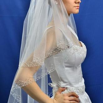 """Свадебная фата """"Серебряное сияние"""""""