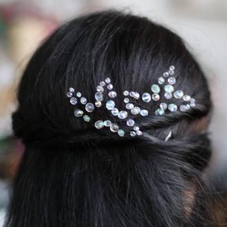 прозрчные шпильки для волос 3 штук