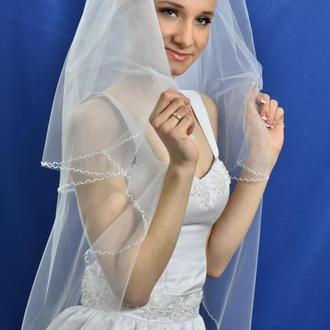 "Свадебная фата ""Зигзаг"""