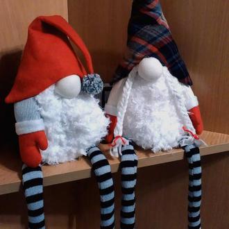 Текстильная, интерьерная игрушка Рождественские Гноми